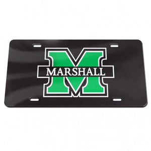 Marshall Thundering Herd Black Mirror License Plate