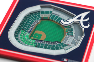 Atlanta Braves 3D StadiumViews Coaster Set