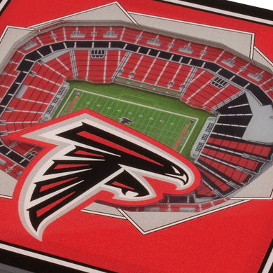 Atlanta Falcons 3D StadiumViews Coaster Set