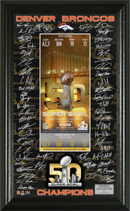 Denver Broncos Super Bowl 50 Champions Signature Ticket