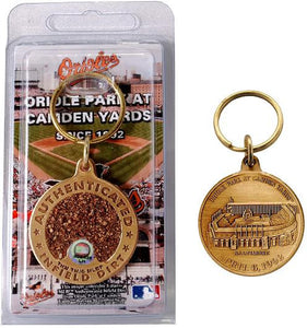 baltimore orioles camden yards game used keychain