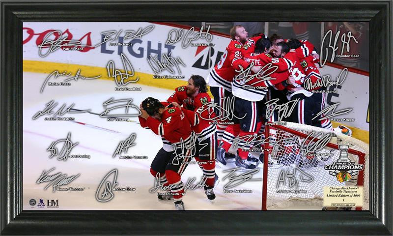 Chicago Blackhawks 2015 Stanley Cup Champions Celebration Signature Rink