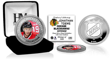 Jonathan Toews Chicago Blackhawks Silver Color Coin