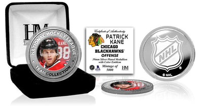Patrick Kane Chicago Blackhawks Silver Color Coin