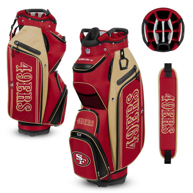 San Francisco 49ers Bucket Cooler III Cart Golf Bag