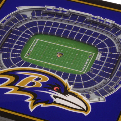 Baltimore Ravens 3D StadiumViews Coaster Set