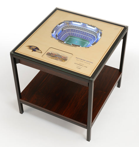 Baltimore Ravens 25 Layer Lighted StadiumView End Table