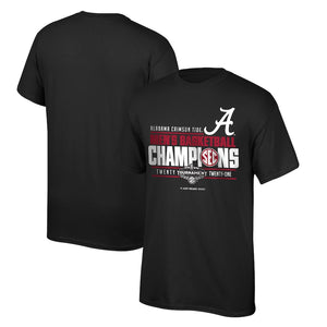 Alabama Crimson Tide 2021 SEC Basketball Tournament Champions Locker Room Shirt