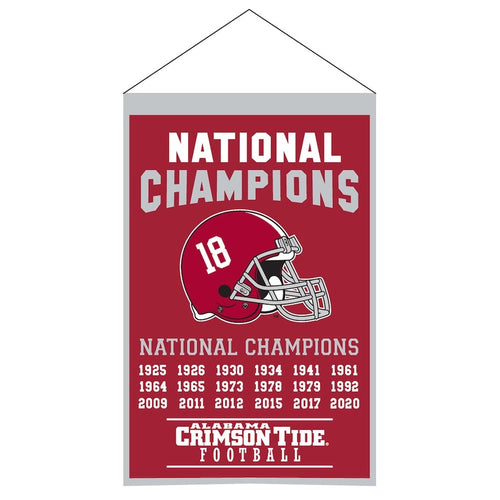 Alabama Crimson Tide 18-Time Football National Champions Banner