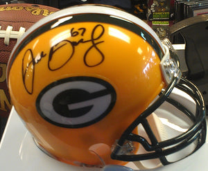wvu football, don barclay packers autograph