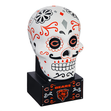 Chicago Bears Sugar Skull Statue