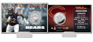 Khalil Mack Chicago Bears Silver Coin Card
