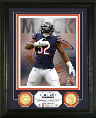 Khalil Mack Chicago Bears Bronze Coin Photo Mint