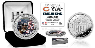 Khalil Mack Chicago Bears Silver Color Coin