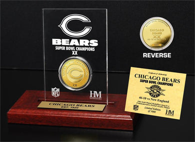 Chicago Bears Super Bowl Champions Etched Acrylic