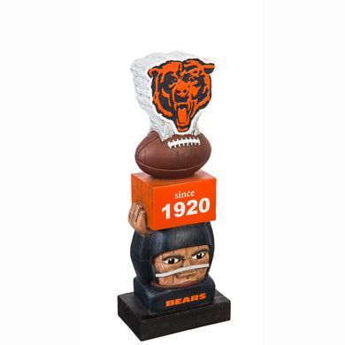 Chicago Bears Vintage Tiki Totem