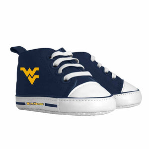 wvu baby shoes, west virginia mountaineers baby shoes