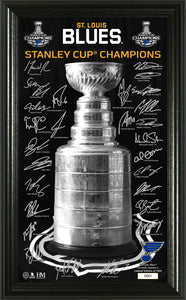 St. Louis Blues 2019 Stanley Cup Champions Signature Trophy