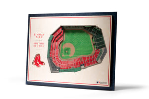 boston red sox fenway park 3d stadiumview wall art