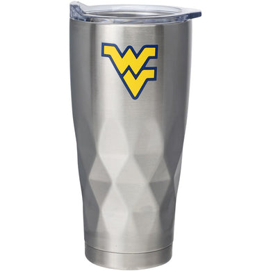 West Virginia Mountaineers Diamond Bottom Stainless Steel Tumbler