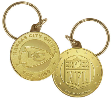 Kansas City Chiefs Bronze Keychain