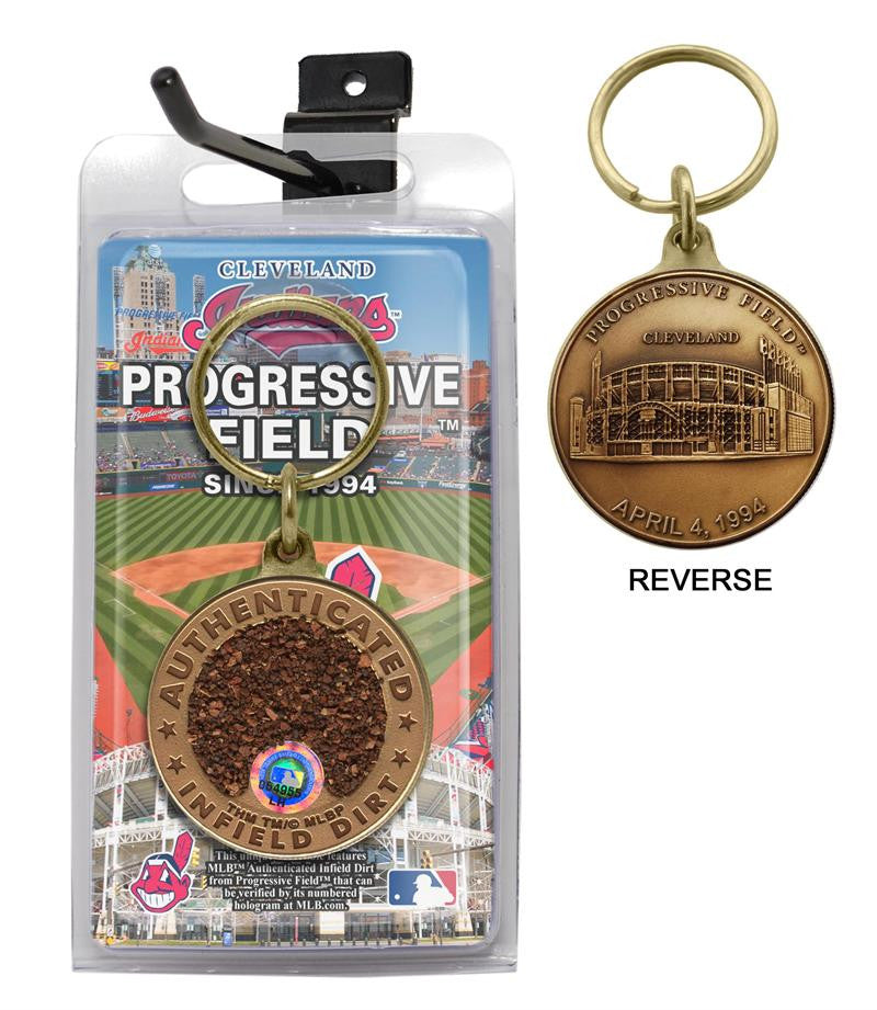 cleveland indians progressive field dirt key chain