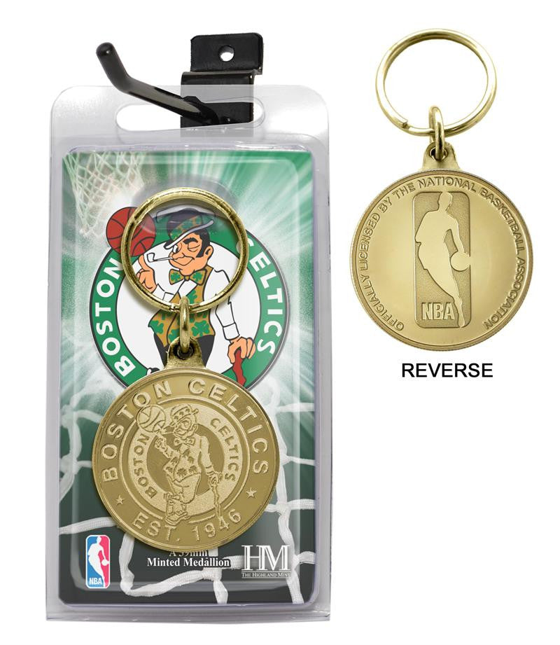 Boston Celtics Coin Keychain