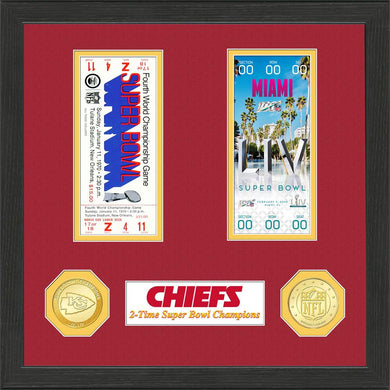 Kansas City Chiefs 2 Time Super Bowl Champions Ticket Collection