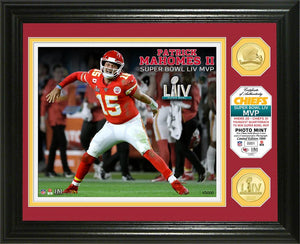 Patrick Mahomes Kansas City Chiefs Super Bowl 54 MVP Bronze Coin Photo Mint