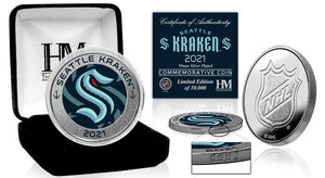 Seattle Kraken Inaugural Season Silver Mint Coin