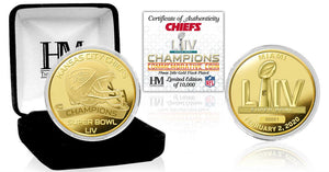 Kansas City Chiefs Super Bowl 54 Champions Gold Mint Coin