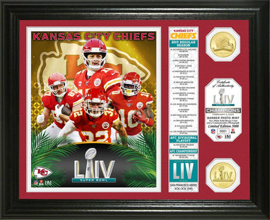 Patrick Mahomes Kansas City Chiefs Super Bowl 54 Champions Banner Bronze Coin Photo Mint