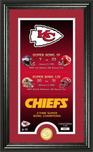 Kansas City Chiefs Legacy Bronze Coin Photo Mint