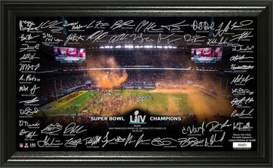 Kansas City Chiefs Super Bowl 54 Champions Signature Grid