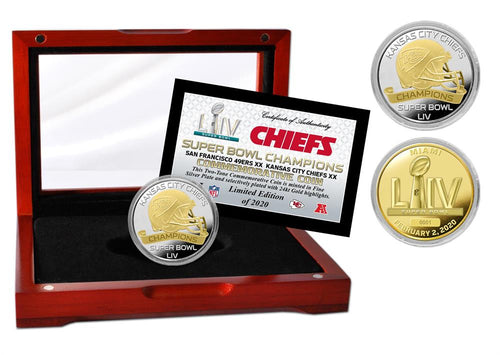 Kansas City Chiefs Super Bowl 54 Champions Two-Tone Mint Coin