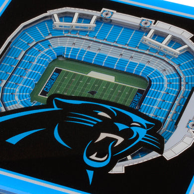 Carolina Panthers 3D StadiumViews Coaster Set