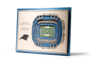 carolina panthers bank of america stadium 3d stadiumview wall art
