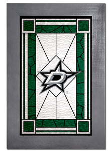 Dallas Stars Stained Glass Wood Sign