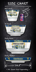 West Virginia Mountaineers MVP Tailgate Party Bowl