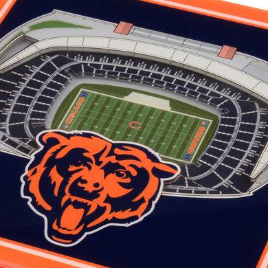 Chicago Bears 3D StadiumViews Coaster Set