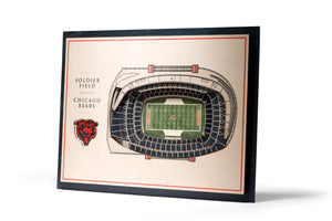 chicago bears solider field 3d stadiumview wall art