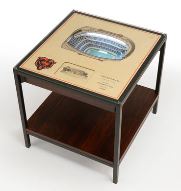 Chicago Bears 25 Layer Lighted StadiumView End Table