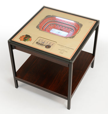 Chicago Blackhawks 25 Layer Lighted StadiumView End Table