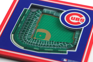 Chicago Cubs 3D StadiumViews Coaster Set
