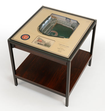 Chicago Cubs 25 Layer Lighted StadiumView End Table