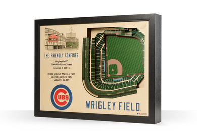 Chicago Cubs Wrigley Field Stadiumview 3D Wall Art