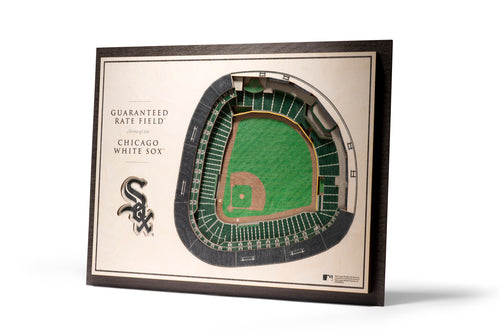 Chicago White Sox Guaranteed Rate Field 3d stadiumview wall art