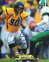 wvu football, chris neild autograph