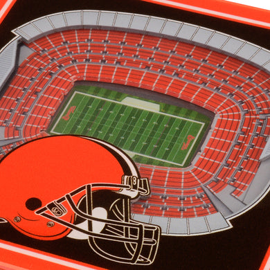 Cleveland Browns 3D StadiumViews Coaster Set