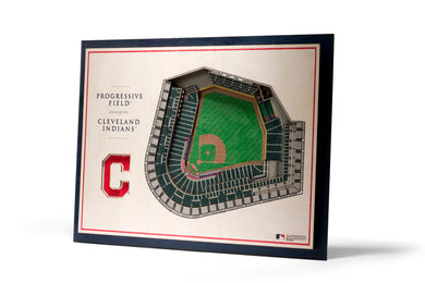 cleveland indians progressive field 3d stadiumview wall art